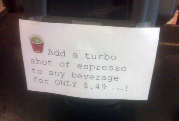 Dunkin's Turbo Shot copy