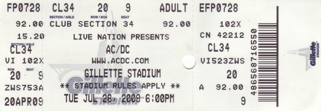 ACDC Ticket