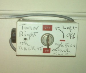 Robert Todd Lincoln's granddaughter's keypad to arm door and window contacts - circa 1960