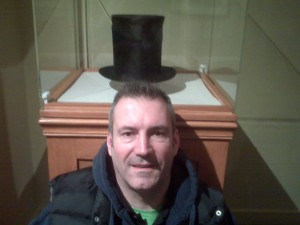 One of Lincoln's stove top hats