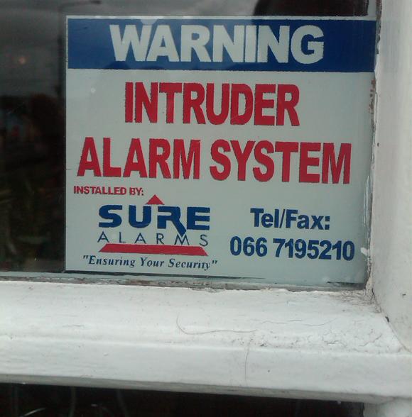 Security Marketing Intruder Alarm System Sticker