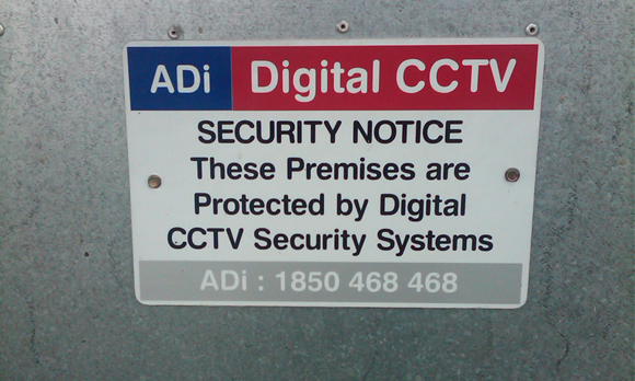 CCTV Security System Warning Label