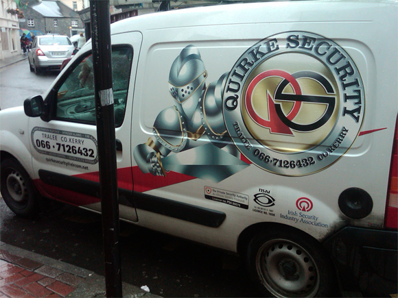 Eye Catching Security Marketing on Vans