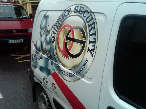 Security Business Advertising on Vehicles