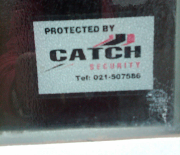 Security System Sticker Advertising