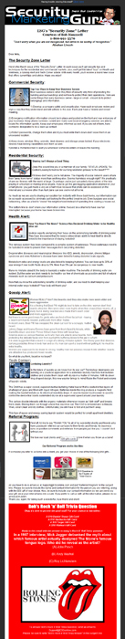 The Secure Zone™ Monthly Client Newsletter (electronic version)