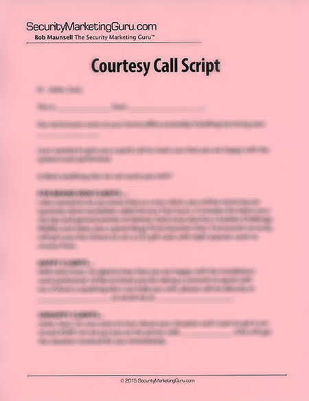 Courtesy Call Script