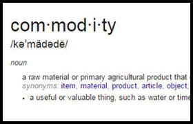 Are U a commodity?