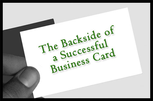 The backside of a successful business card security marketing guru colourmoves