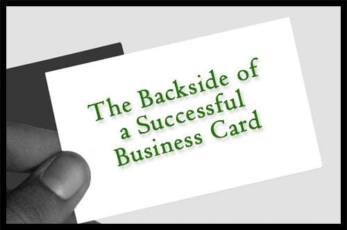 The Backside Of A Successful Business Card Security Marketing Guru